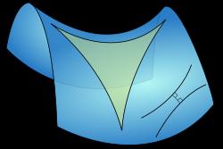 triangle on hyperboloid surface