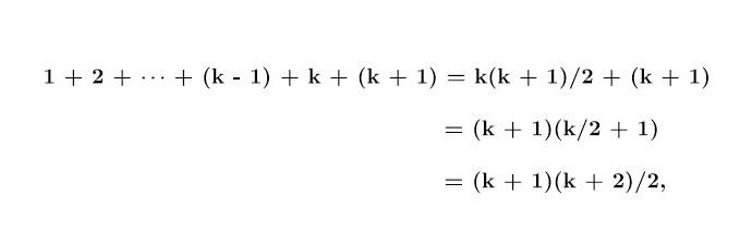 n = k + 1