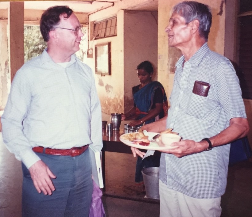 Robin Wilson & Prof. S.S. Shrikhande in Mumbai University